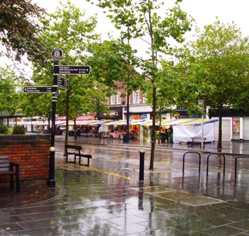 A very wet but welcoming St Albans Farmers Market