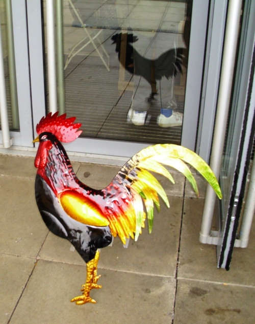 """These colourful """"gate guardians"""" were on sale at one of the trade stands."""