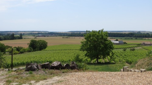 Looking south from the hills above the Vienne ...