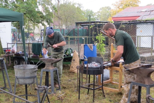 The blacksmiths were back again this year.