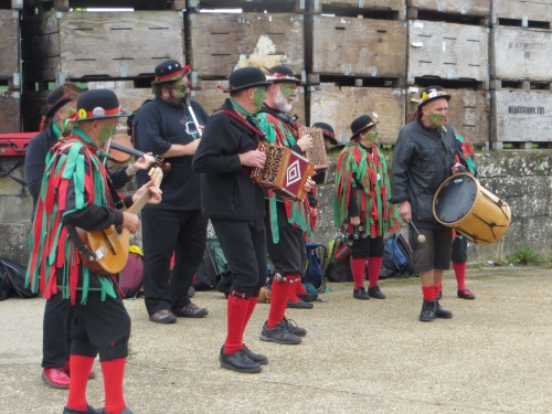 So I'll play out the blog with the enthusiastic morris band.