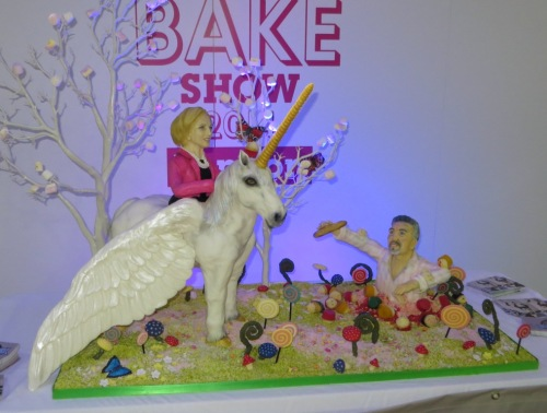 And last but not least, we have a Mary Berry and Paul Hollywood display piece.  Very clever!