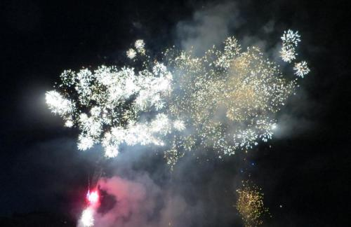 ... that ended the evening literally with a bang!