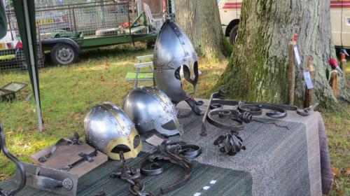 ... but with some fabulous armoured helmets to display.