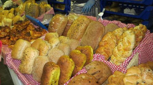 There were craft stalls indoors including a food market with artisan breads ...