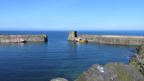 The harbour, still active for fishing though much reduced from its former glory