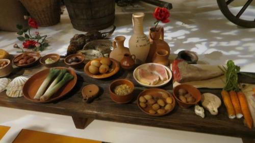 A selection of food.  Looks quite a good and healthy diet.