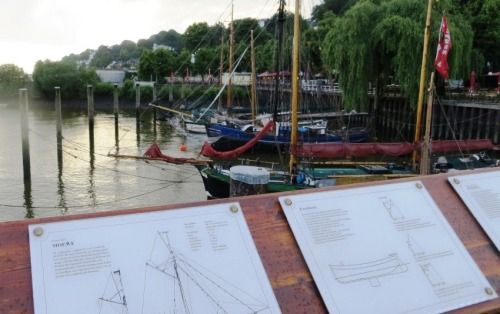 It was a fine evening as we strolled past the historic boats ...