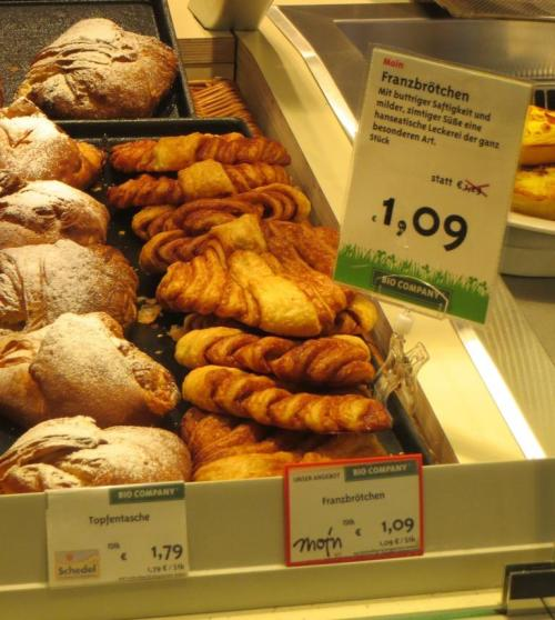 Franzbrotchen, a sort of sweeter version of a croissant ...