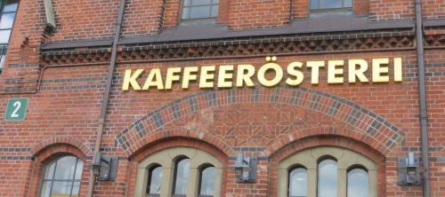 At last, the Speicherstadt Kaffeerosterei, housed in one of the beautifully preserved warehouses.